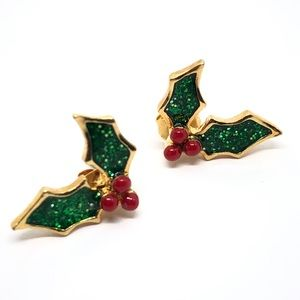 🆕Avon 2002 Holly Berry Holiday Earrings
